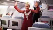 Sexy Air Hostess Dances In Plane Celebrating Indias Republic Day