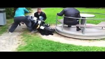 Motorcycle-Powered Merry-Go-Round Fail
