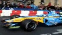 show  renault f1 team,heikki kovalainen à clermont-ferrand