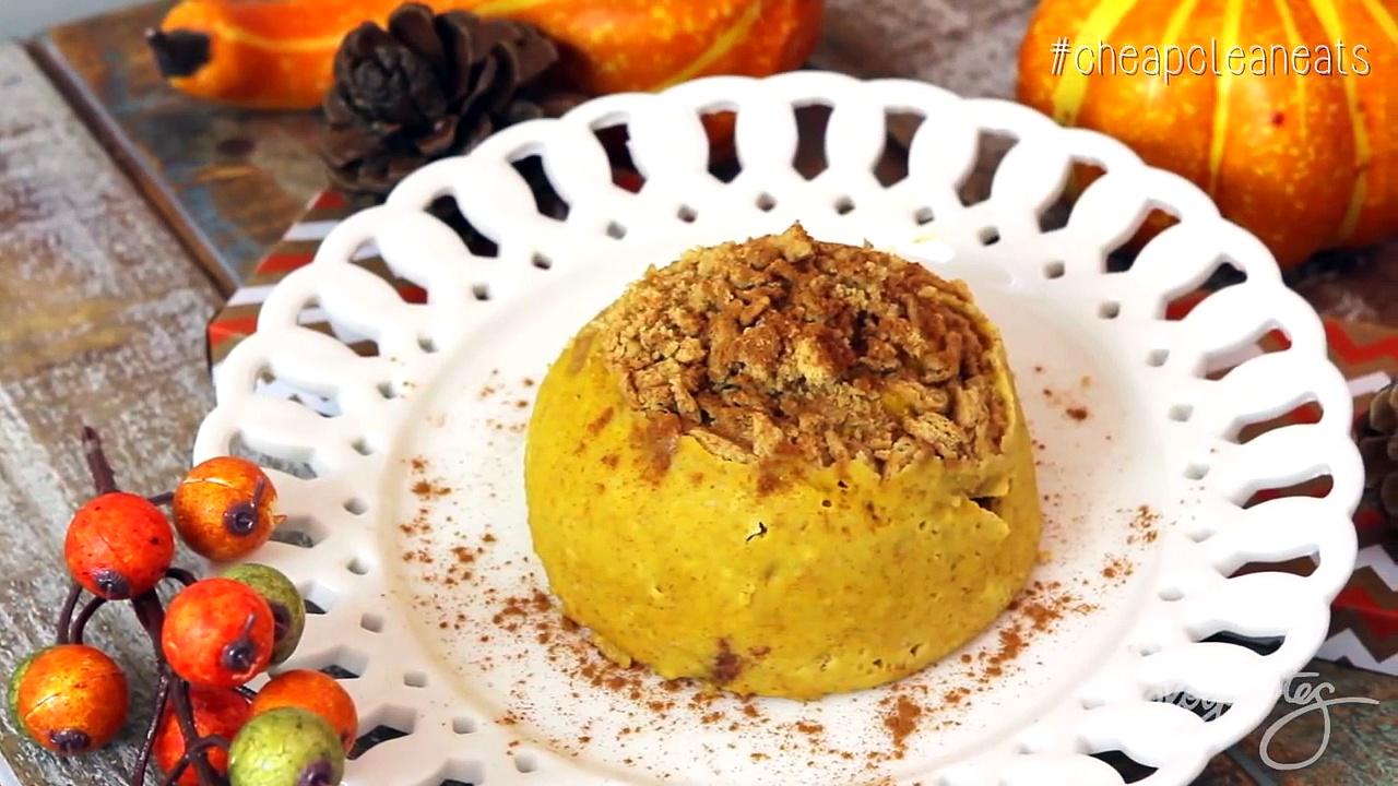 Easy Pumpkin Pie Mug Cake | CHEAP CLEAN EATS