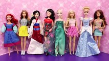 Barbie FASHION SHOW Disney Princess Dolls, Frozen Elsa Anna and Spiderman Parody, Barbie Goes CRAZY
