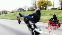 AMAZING Motorcycle STUNTS Extreme Freestyle Stunt Bike TRICKS On Highway Motorbike WHEELIES 720p