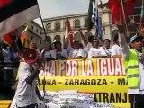Marcha por la Igualdad y contra la reforma de la ley de Extranjeria- Momento en la manifestación