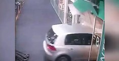 87-year-old drives car through corridors of shopping centre, Australia