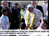 Pope Francis arrives in Sri Lanka for first leg of weeklong Asian tour