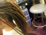 "Dread Extensions in a Mohawk ""Dread Hawk"""