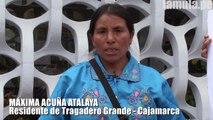 Máxima Acuña asegura que Yanacocha la quiere sacar de sus tierras