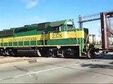 Railroad Crossing: East Raymond Street, Indianapolis, IN. Louisville & Indiana Railroad