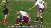 Placage monstrueux en Rugby  Steve Matai VS Dave Tyrrell