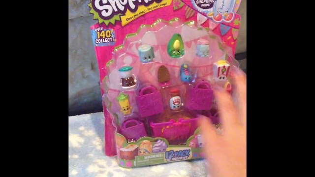 Shopkins 12 Pack. Toy Review. Shopkins Unboxing. Blind Bag Toy Opening. Moose Toys.