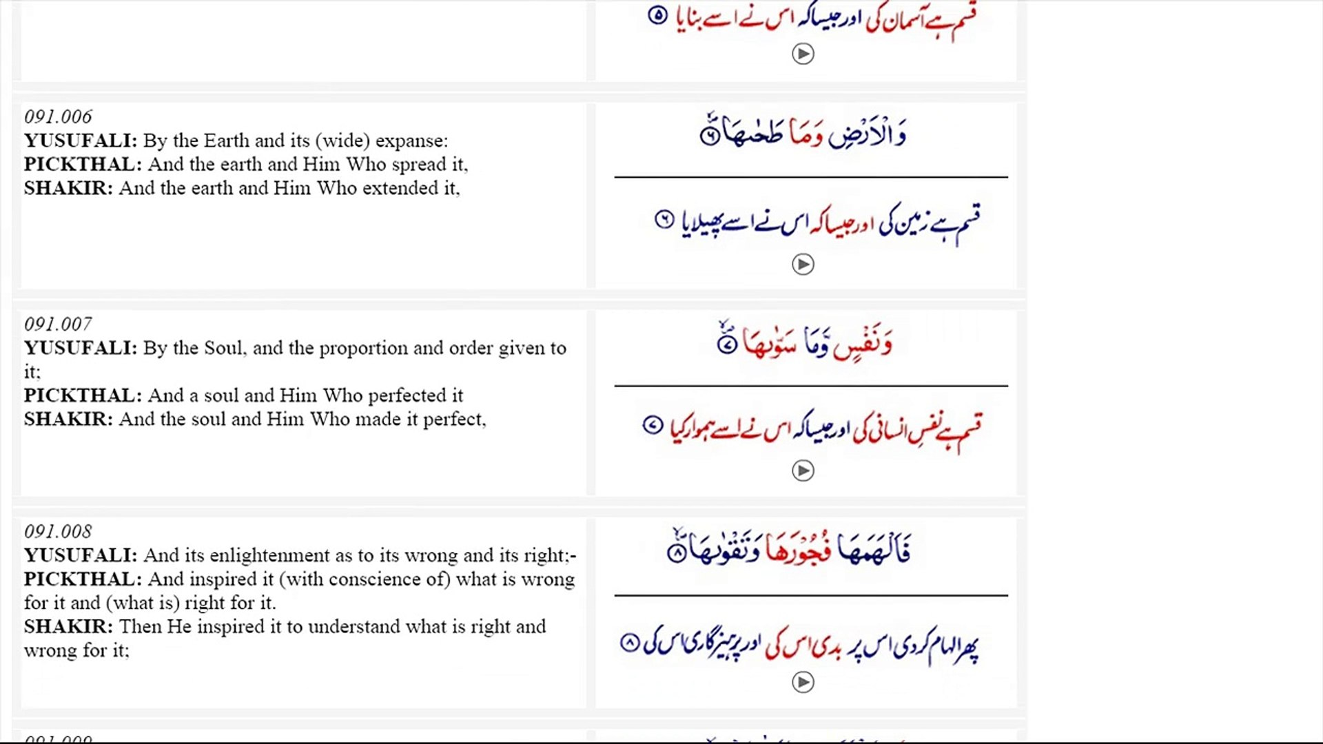 Surah Ash Shams With Urdu English Translation Video Dailymotion