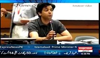 Ahmed Qureshi Talk and Urgent Apeal in United Nations for Kashmir