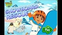 Go Diego Go Snowboard Rescue Animation Cartoon GamePlay Nick Jr