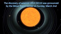 Asteroid 2014 DX110 : Huge Asteroid to make close encounter between Earth and Moon (Mar 05