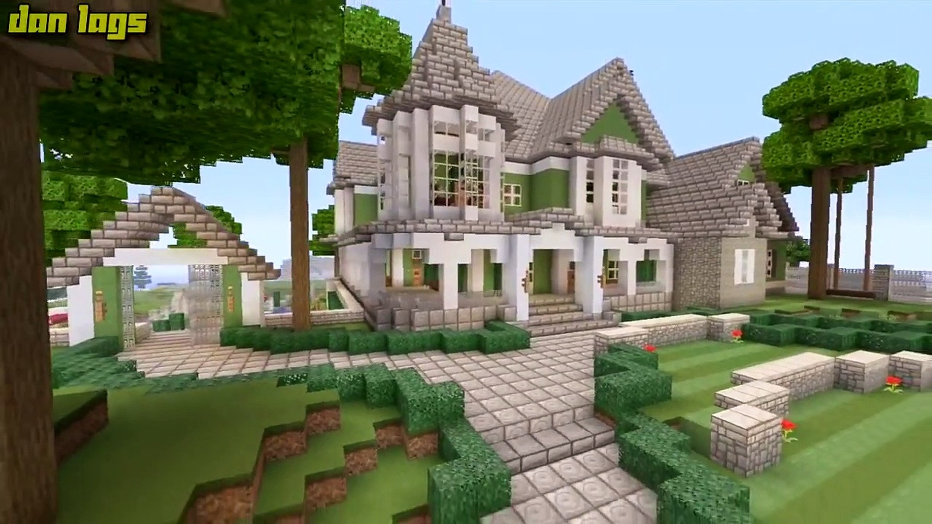 Minecraft Xbox 360 Big Traditional Mansion House Tours Of Los