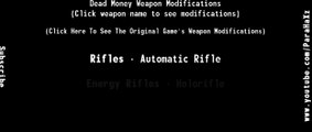 Fallout: New Vegas Weapon Modification Series - [DEAD MONEY] Interactive Menu!
