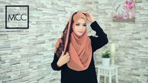 Hijab Tutorial for Shawl Adell Glitter Halfmoon and Shawl Alana by TULIP