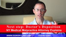 Doctor's Depositions; NY Medical Malpractice Lawyer Explains