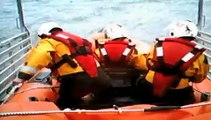 Aberdovey RNLI lifeboat faces rough conditions in windsurfer rescue