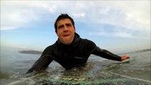 Longboarding Surfing Widemouth Bay Bude Cornwall GoPro Hero 3 Black Edition