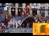 ABDICO EL REY JUAN CARLOS DE BORBON Y CRECEN LAS PROTESTAS CONTRA LA MONARQUIA EN ESPAÑA - 03-06-14