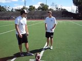 """Kicking Coach demonstrates field goal kicking technique """"Ankle Lock"""""""