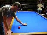 Torbjörn Blomdahl teaching Jeanette Lee a New 3C Shot #1 Pool & Billiard