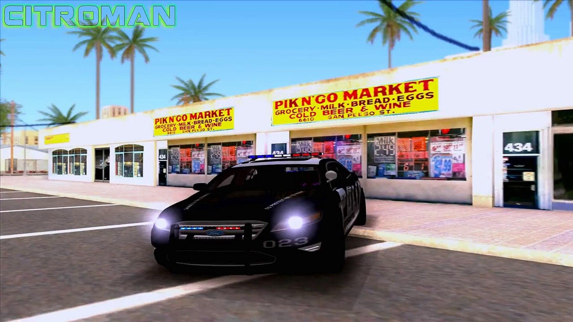 GTA San Andreas Mods - Ford Taurus Police [SA][IVF][CAR][HQ][1080p] - GTA San Andreas Mods