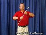 The Twirling Drum Major - Four Finger Twirl Demonstration