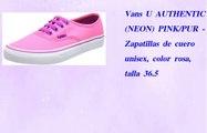 Vans U AUTHENTIC NEON PINK PUR  Zapatillas de cuero