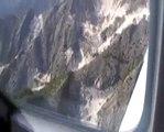 volo nsulle cave di marmo di Carrara