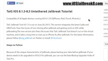 Taig V2.1.3 Official iOS 8.3 Jailbreak Released! For all iOS 8.2 & 8.3 Devices
