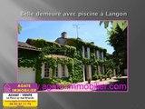 vente belle demeure en pierre prestige avec piscine 33210 langon
