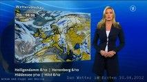 Claudia Kleinert 10.04.2012 - April Wetter in Deutschland - Weather forecaster in the first