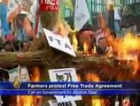 South Korean Farmers Protest Against Free Trade Agreement with U.S.