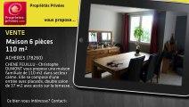 A vendre - maison - ACHERES (78260) - 6 pièces - 110m²