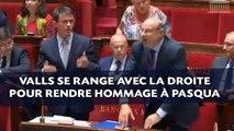 Décès de Charles Pasqua: Valls se range avec la droite pour rendre hommage