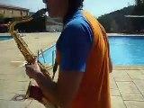 Xaranga-Show SALSA ROSA - Tocando en la piscina...