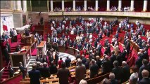 Minute de silence de l'Assemblée en hommage aux victimes des attentats