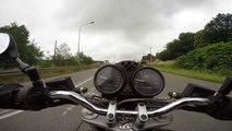 Ducati Monster 620 dark ride with gopro hero 4 HD. Poland S1 [e462]