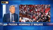 """Pasqua: """"Le spectacle des députés de gauche qui restent assis est assez lamentable"""", dit Guaino"""