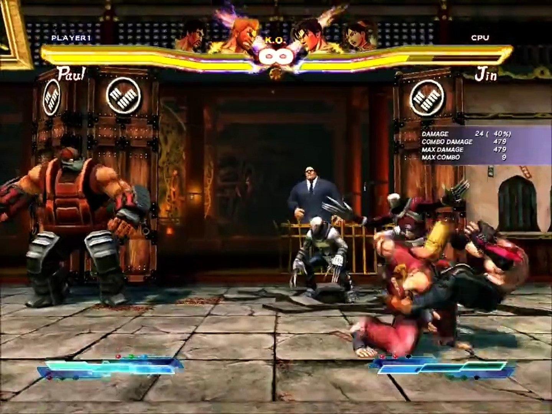 Street Fighter X Tekken Law Paul Combos Video Dailymotion