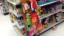Tormenting HEEL WIFE with Kermit Puppet at TOYSRUS! Grims Toy Show