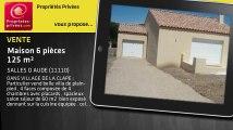 A vendre - maison - SALLES D AUDE (11110) - 6 pièces - 125m²