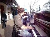 Mathias Piano Man - Busking in Dunedin - Awaka