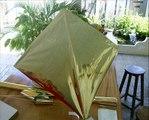Cerf volant en papier aluminium