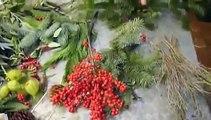Tutorial: come fare un centrotavola-ghirlanda per Natale by Fashionflowers.it