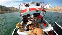 Wake Surfing Behind Centurion Air Warrior Wake Board Boat GoPro HD Hero