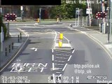 CCTV captures drivers dicing with death at level crossings in Britain