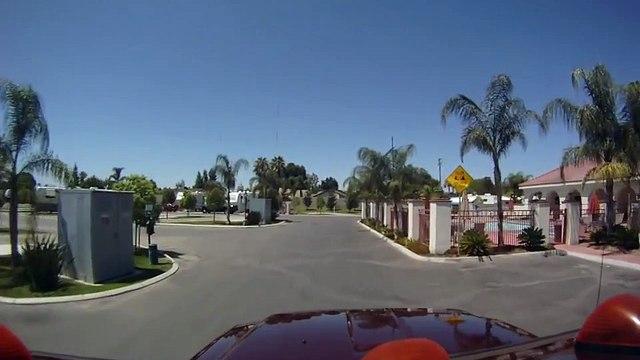 GoPro HD - A Drive Through Bakersfield RV Resort in Bakersfield, CA.